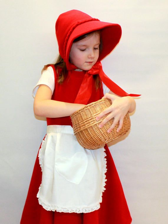 Little red riding hood costume/Girl costume/Kids Costume/red riding ...