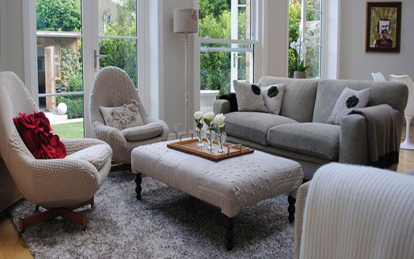 Knitted Furniture and Decorative Pillows by Melanie Porter, Stunning