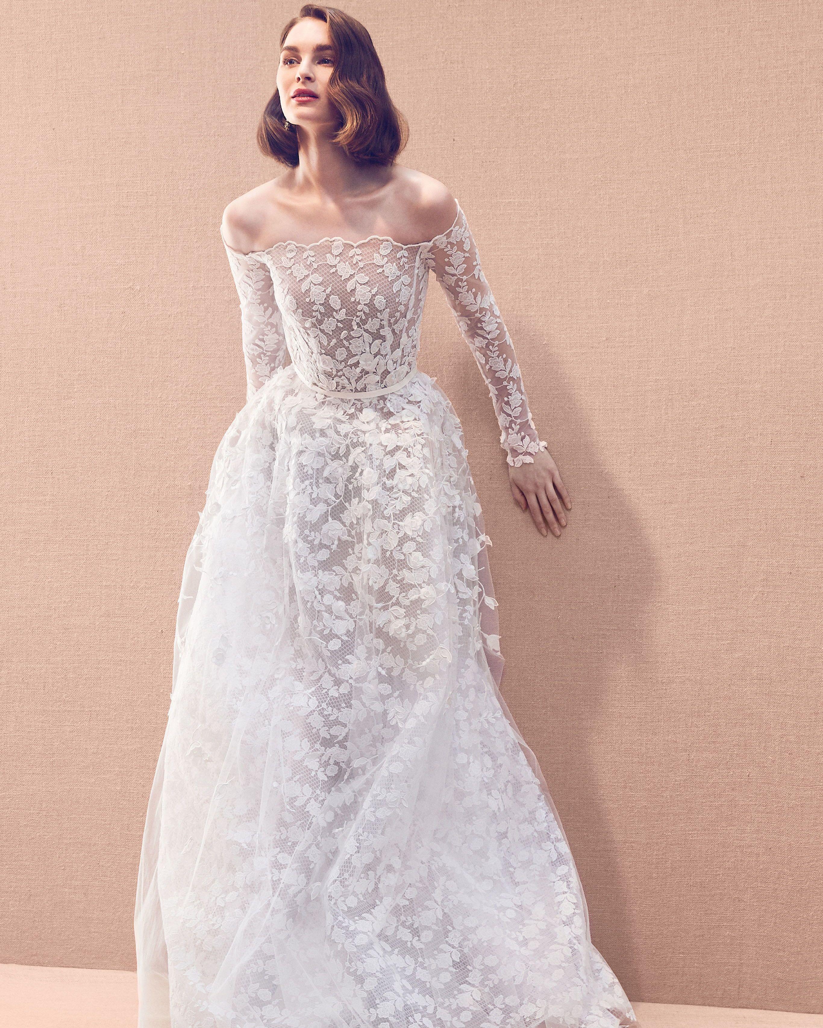 Oscar De La Renta Spring 2020 Wedding Dress Collection Wedding Dress Long Sleeve Wedding Dress Trends Wedding Dresses [ 3412 x 2732 Pixel ]