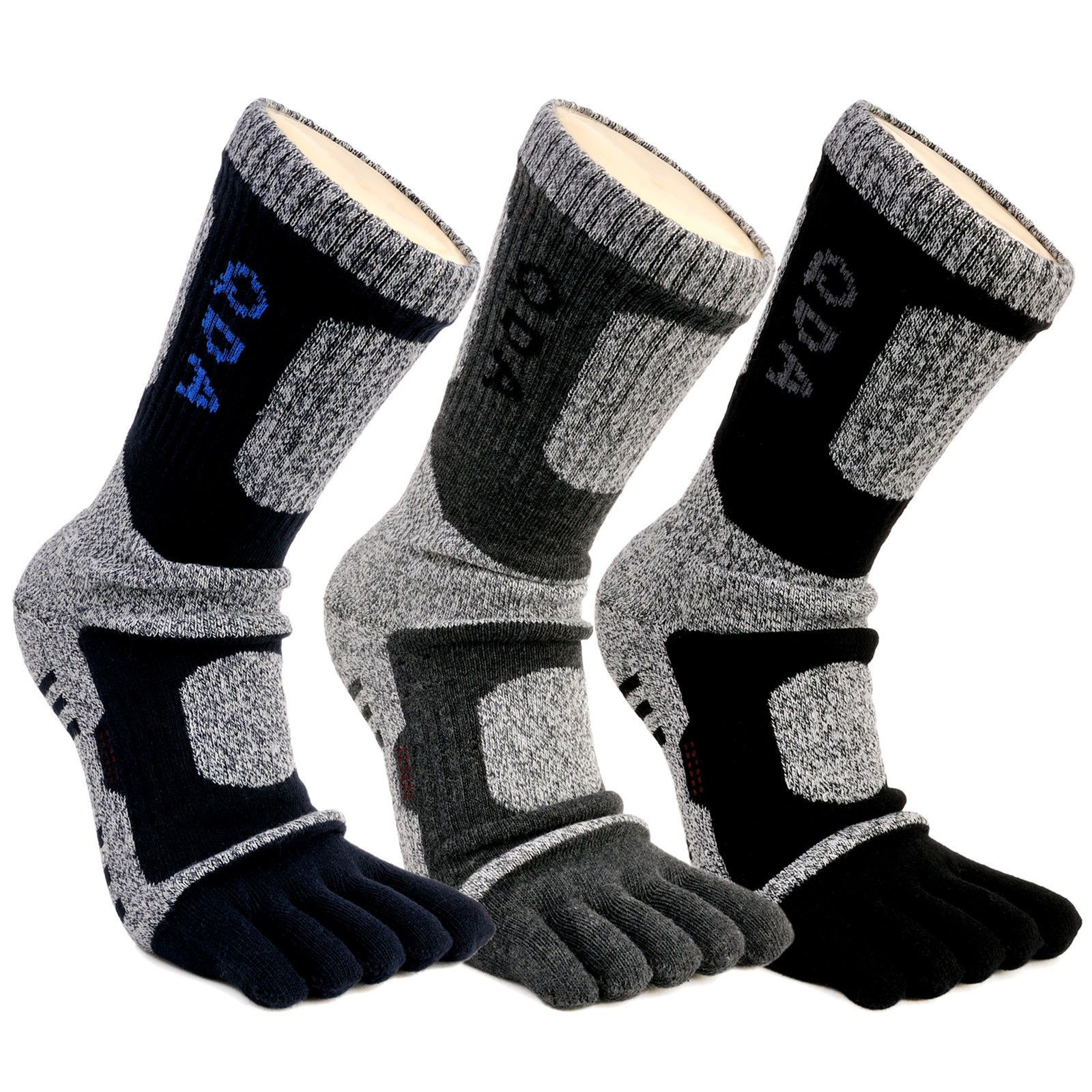 Mens Sports Compression Running Cycling Anti-Blister Cool Five Finger Toe Socks