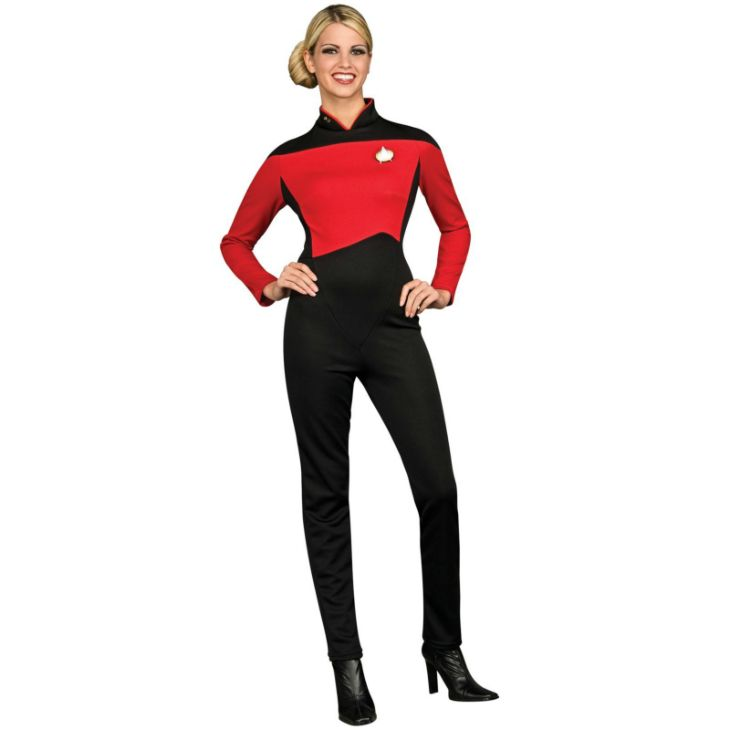 3df9dc7d02 Star Trek Next Generation Red Jumpsuit Deluxe Adult Costume Description   Boldly go where no Gal