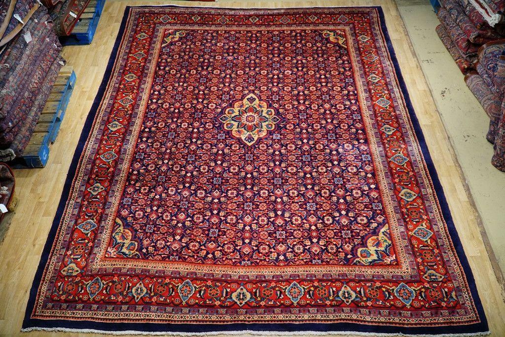 Interior Decor Rug 10x13 Herati Persian Tabriz Exotic Design Handmade