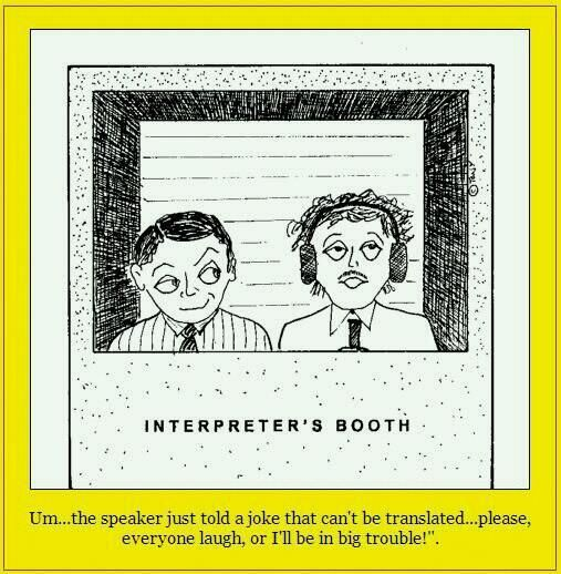 An Interpreter S Booth Very Funny Quotes Jokes Funny