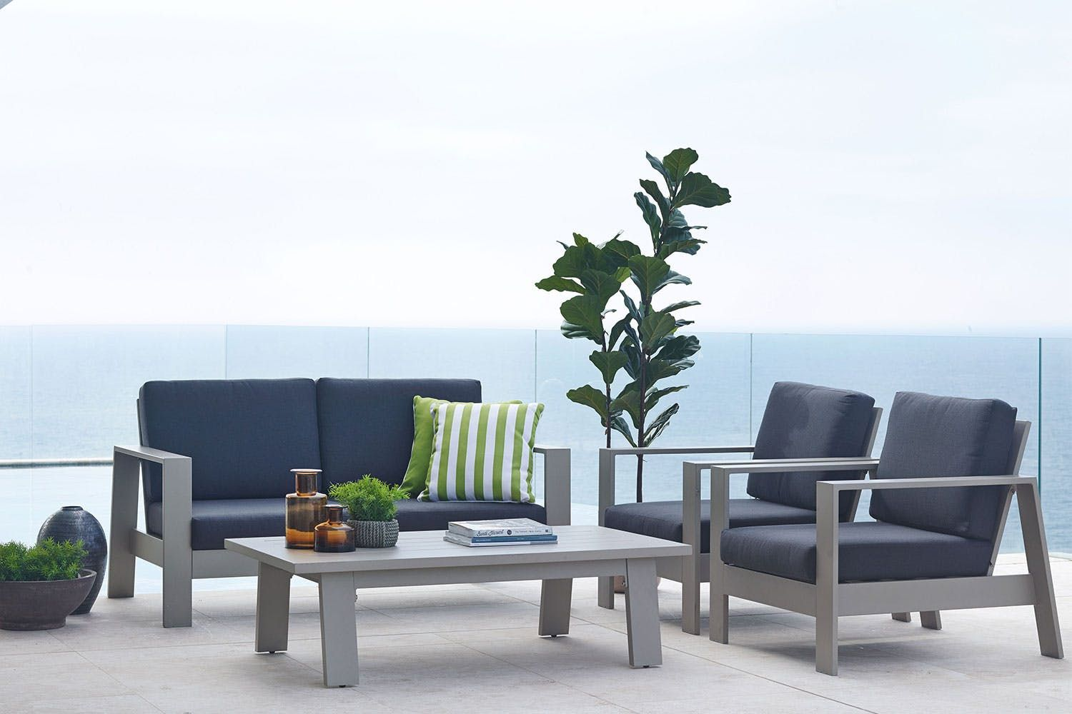 Macan 4 Piece Outdoor Lounge Setting Garden Inspo