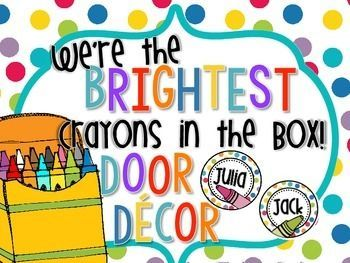 door decor we re the brightest crayons in the box bulletin boards