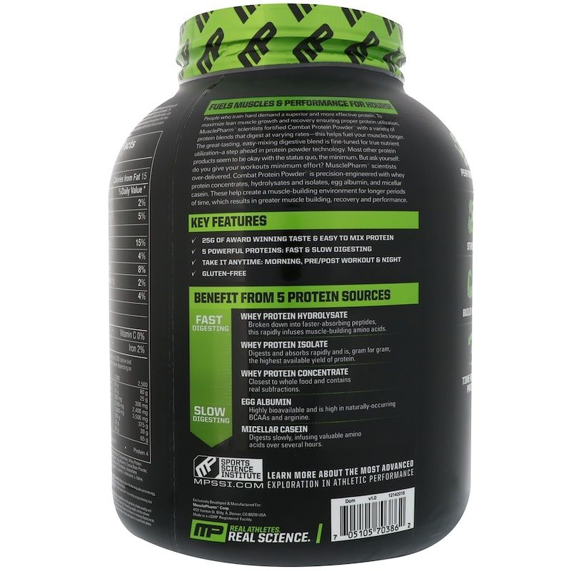 Musclepharm Combat Protein Powder Chocolate Milk 4 Lbs 1814 G Protein Blend Protein Whey Protein Concentrate