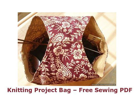 Basic Knitting Project Bag + Cleaning & Oiling a Sewing Machine ...