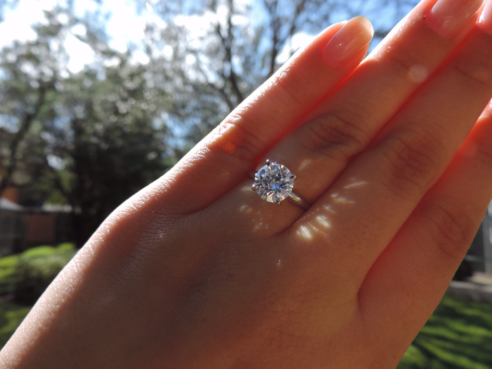 Engagement Rings Round solitaire engagement ring, Best
