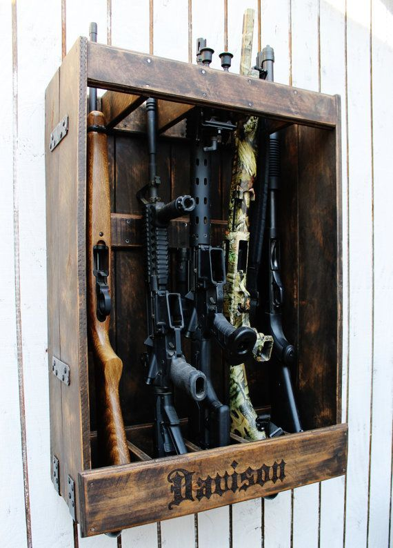 Customizable Gun Rack Rifle Rack Wood Work Rifle Rack