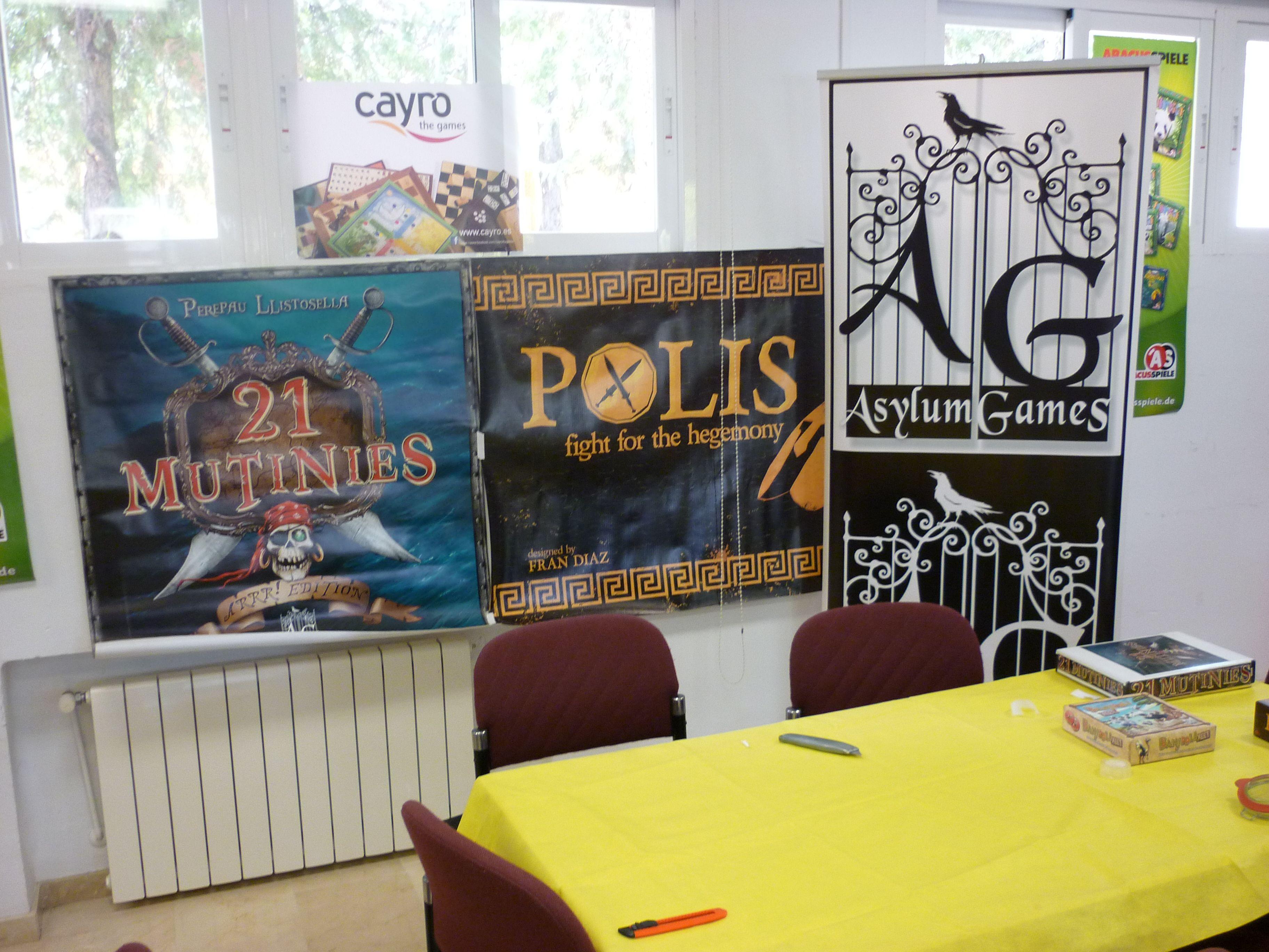 """Stand de Asylum Games en """"Zona Lúdica"""" (Mollina, Málaga). / Asylum Games booth in """"Zona Lúdica"""" (Mollina, Málaga)."""