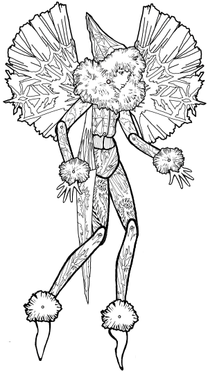 Icicle Fairy Puppet Instructions & Designs to Color, Cut