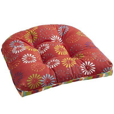 Red Scatter Daisy Chair Cushion Chair Cushions Outdoor Chair Cushions Chair
