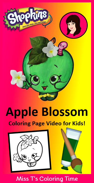 Shopkins - Apple Blossom Coloring Page Video for Kids! Do ...