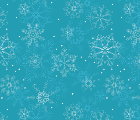 Crochet_Pattern_Snowflakes fabric by designosaurier on Spoonflower - custom fabric