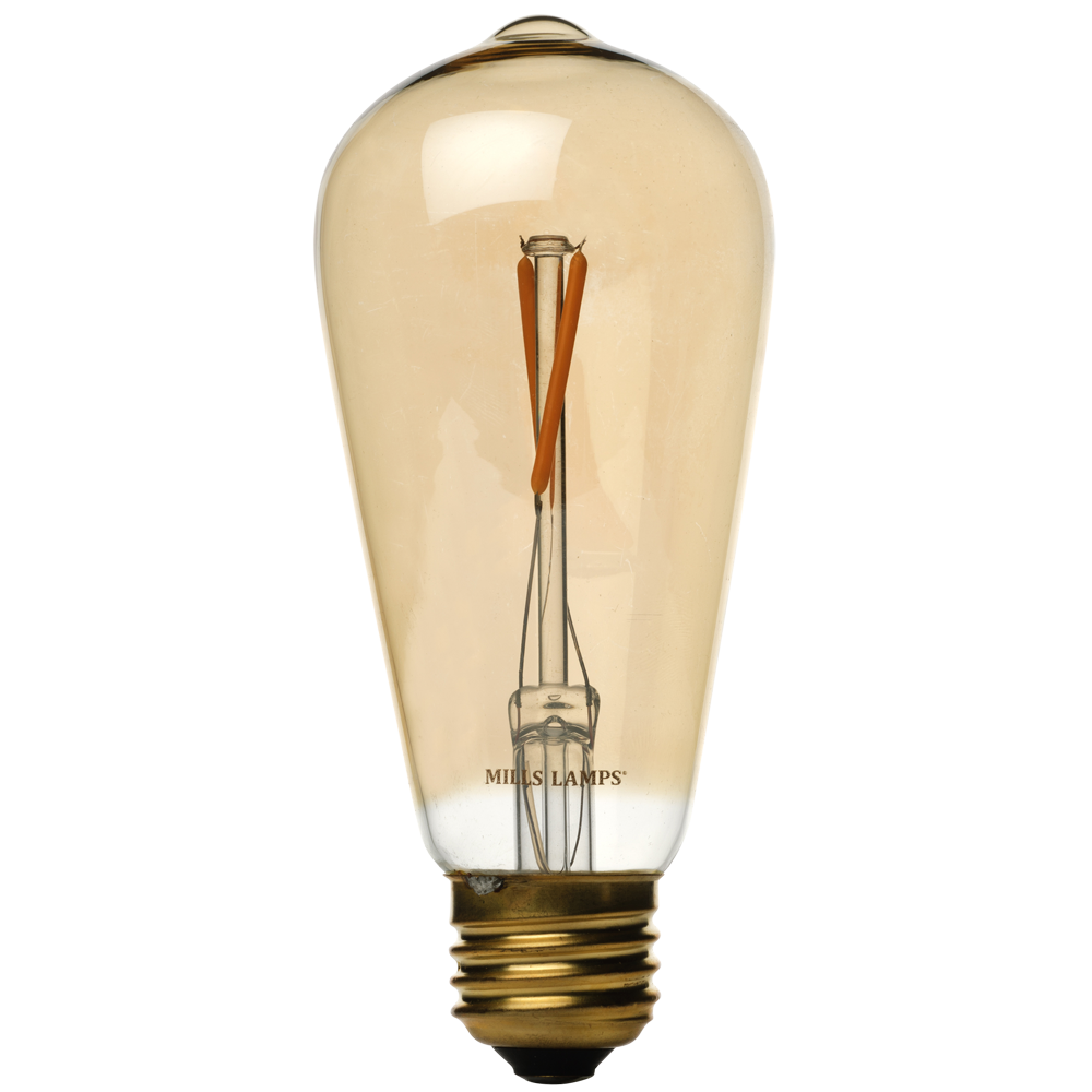 Newhouse Lighting 40w Equivalent Incandescent St19: Edison Mills ST58 Vintage LED Filament Light Bulb 2W (40
