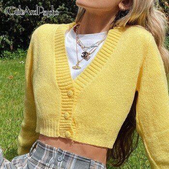Chaquetas para mujeres de cuello en V suéters de e