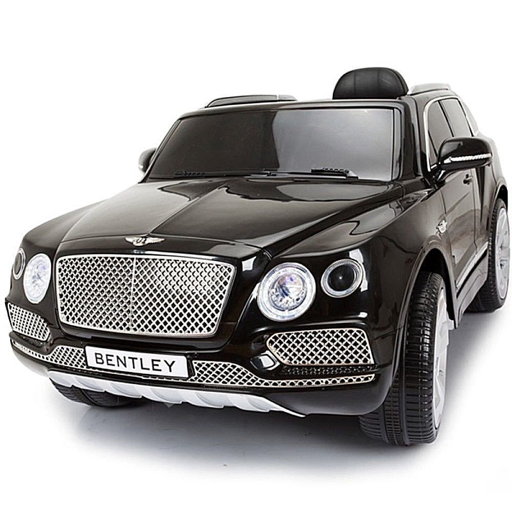 Licensed 12v Bentley Bentayga Kids Ride On Suv Electric Toy Car Remote Black Ebay Kids Ride On Small Luxury Cars Toy Car