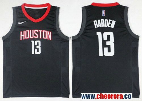Men s Houston Rockets  13 James Harden Black NBA Swingman Jersey ... dd52ec5e5