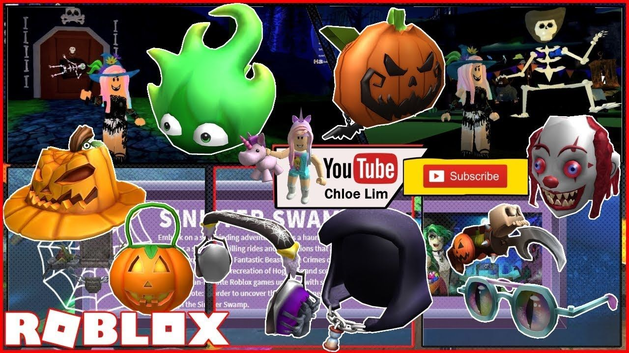 Hallows Eve Roblox Roblox Sinister Swamp Gameplay Getting 9 More Hallow S Eve Event Items Roblox Sinister Hallows Eve