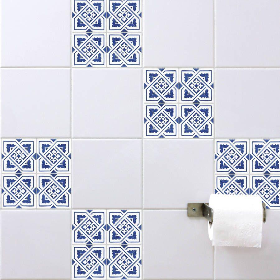 Spanish Tile Stickers Blue Spanish Tile Blue Tiles Shower Cubicles
