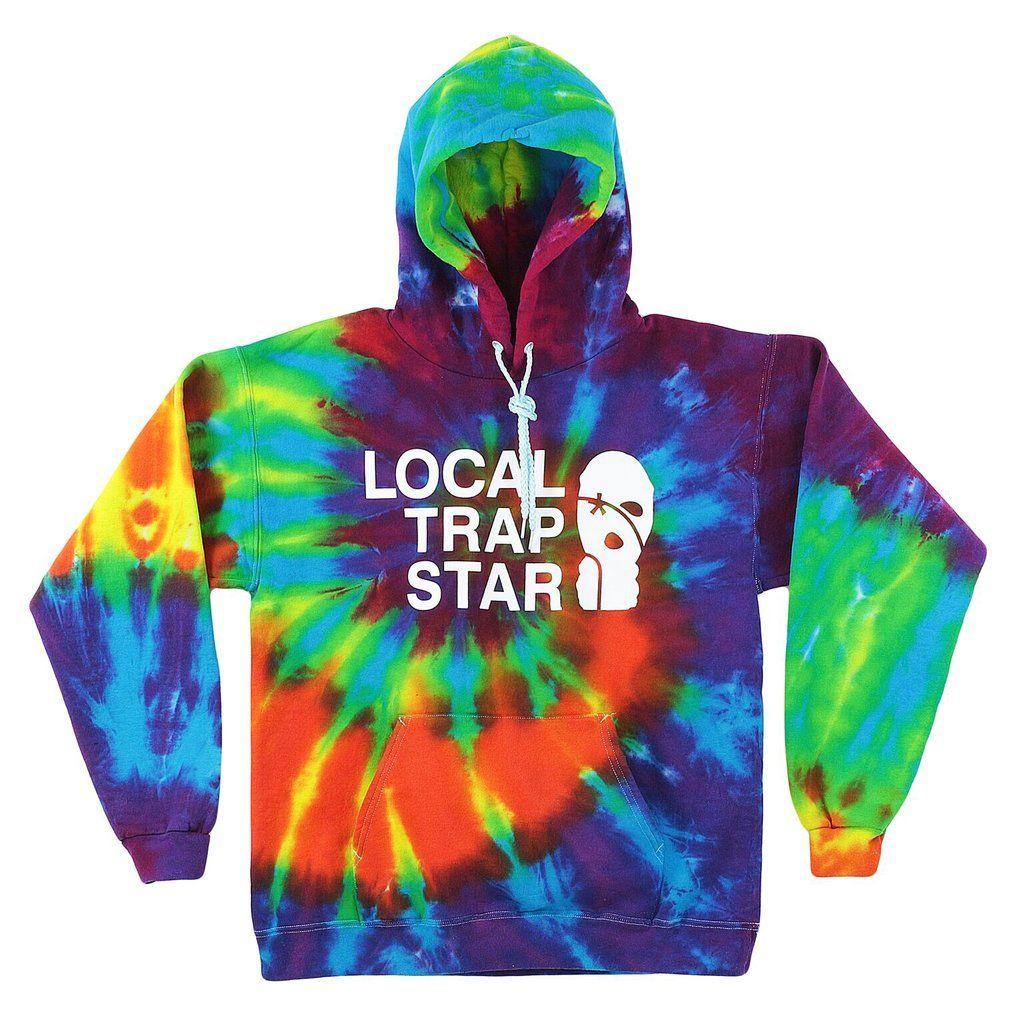 Lts Tie Dye Hoodie Local Trap Star Hoodies Tie Dye Hoodie Star Clothing [ 1024 x 1024 Pixel ]