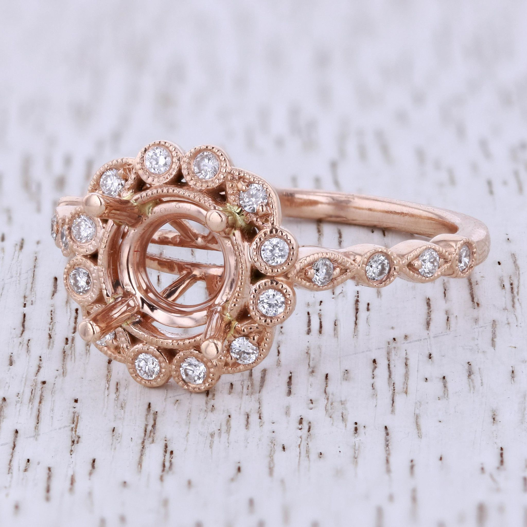 14K Rose Gold The Amelia Engagement Ring