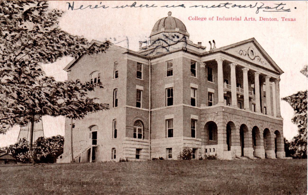 TWU Old Main 1913 | Denton texas, Denton, Postcard