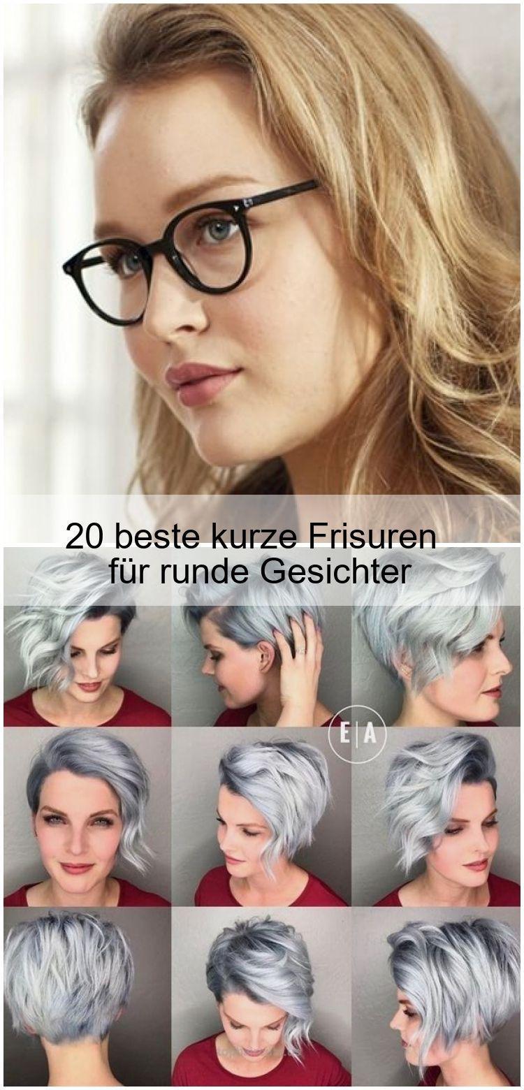 20 beste kurze frisuren für runde gesichter  20 beste