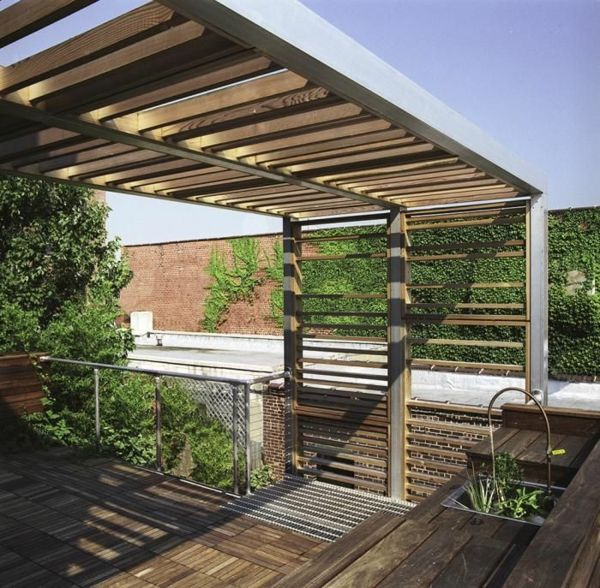 Entzuckend Pergola Design Ideen Mit Dach Terrassengestaltung
