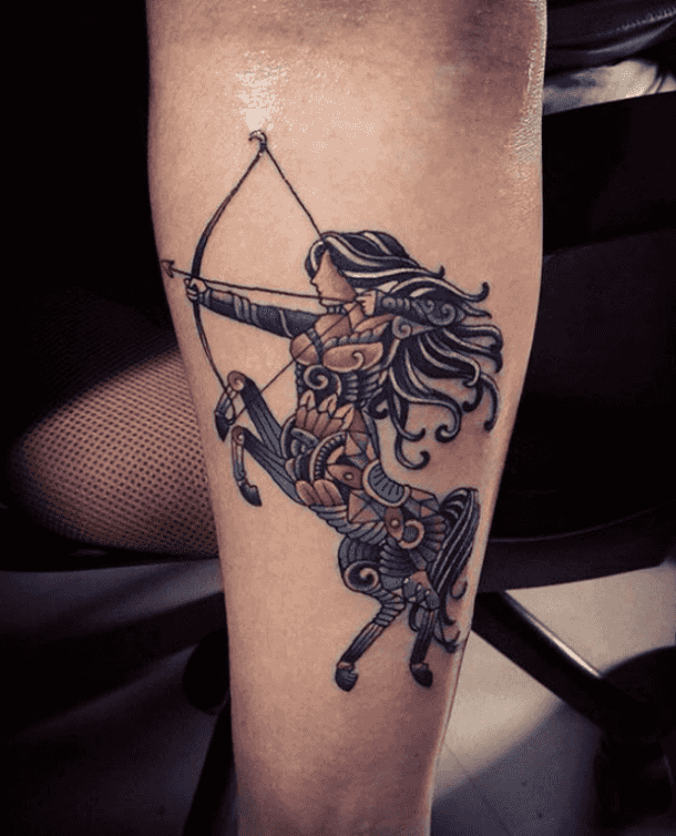 b58cbfcf3 25 Best Arrow & Constellation Tattoo Ideas For Sagittarius Zodiac ...