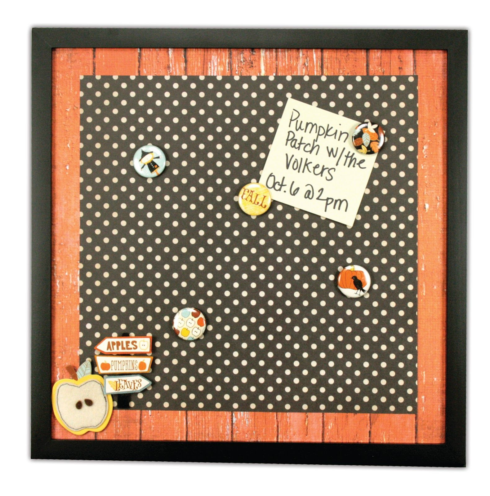 Creepy Crafts Day 2 Pumpkin Patch Magnetic Memo Board Simply Remove Glass From A Frame Then Add A 12x12 Magnetic Sheet And P Craft Day Crafts Pattern Paper