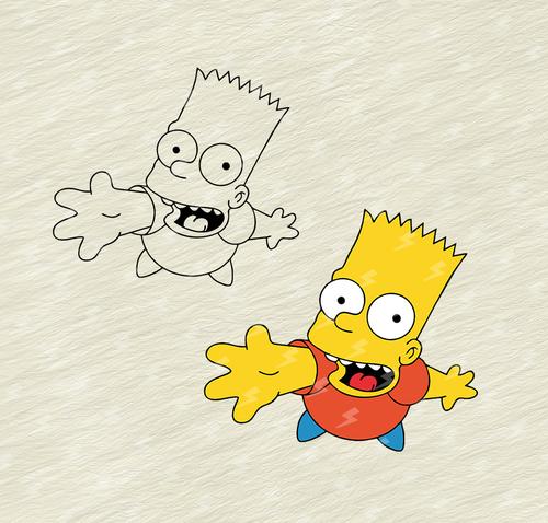 Bart Simpson Logo Vector Cdr Free Download Bart Simpson Art Simpsons Art Bart Simpson