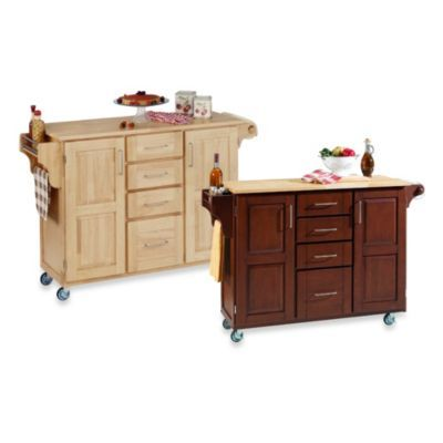 Home Styles Create-a-Cart Wood Top Kitchen Cart - BedBathandBeyond.com