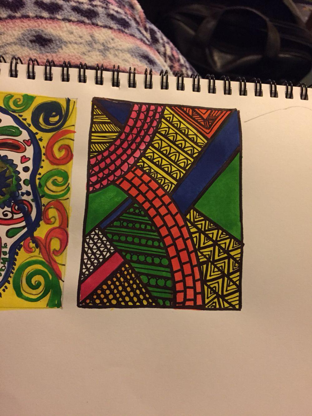 Zen doodle colour - Block Colour Zen Doodle