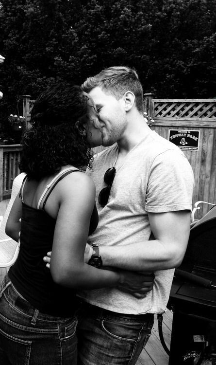 black girl and white boy dating