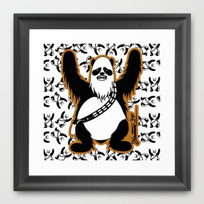 Chewy panda framed art print by theartistgrimm 33 00 theartistgrimm grimm chewypanda