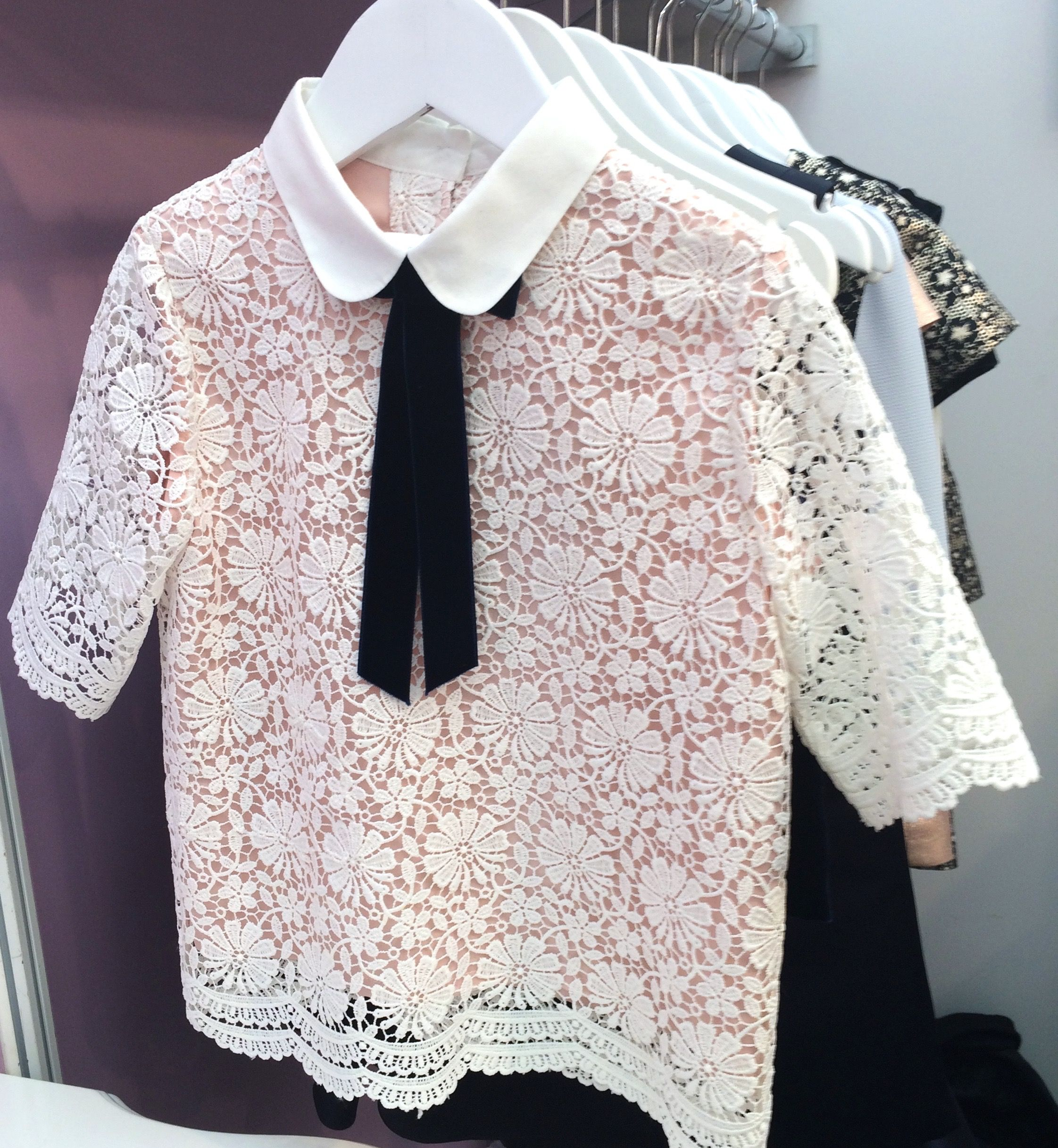 Chic lace top by Oh My at Bubble London for fall 2016 kidswear