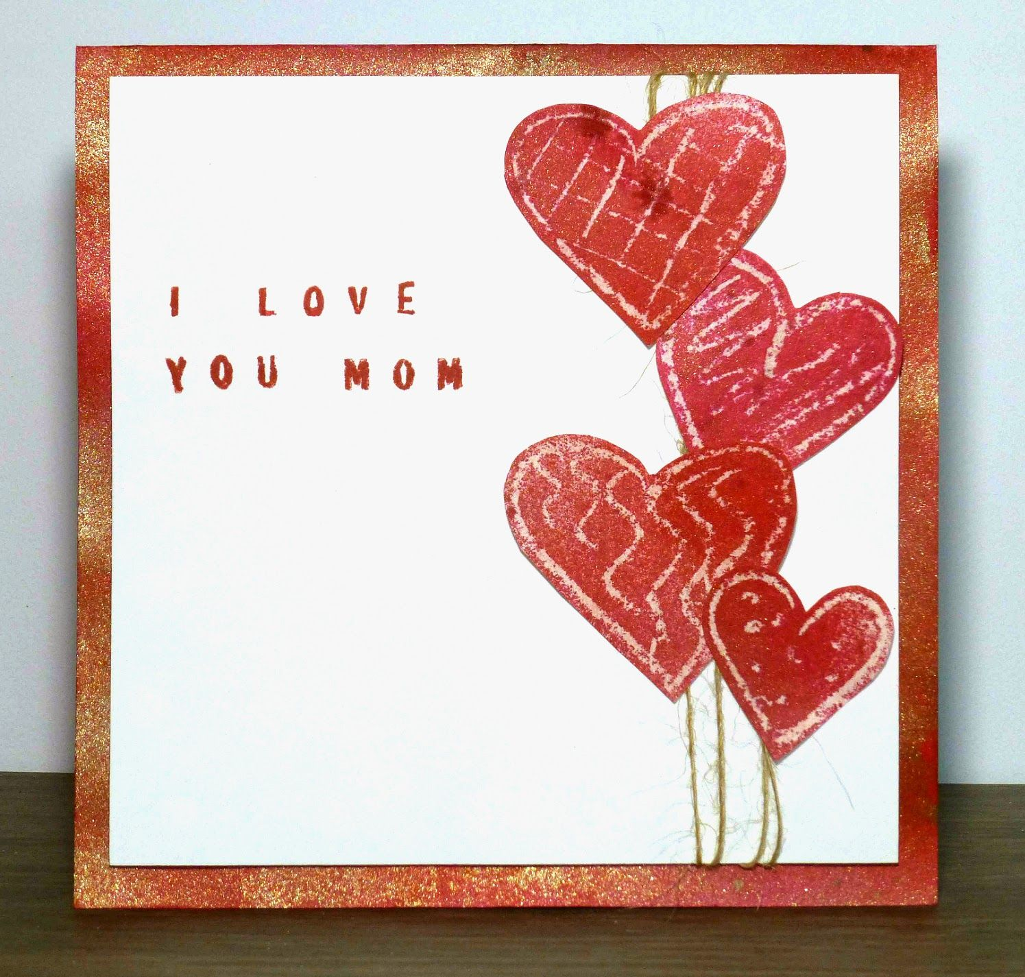 Bonjour scrap kids craft for mothers day with step by step i kids craft for mothers day with step by step i love you mom card paint crayon and paper so easy kids can do it canvascorp tatteredangels creative diy kristyandbryce Gallery