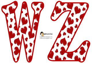 EUGENIA - KATIA ARTES - BLOG DE LETRAS PERSONALIZADAS E ALGUMAS COISINHAS: Alfabeto coração
