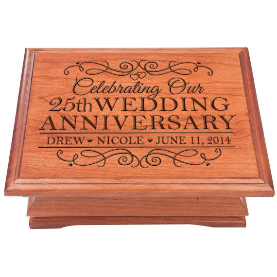 25th Wedding Anniversary Jewelry Box Personalized Gift For Him