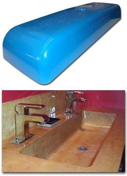 Concrete Countertop Rubber Sink Mold Sdp 15 Trough 40 Concrete