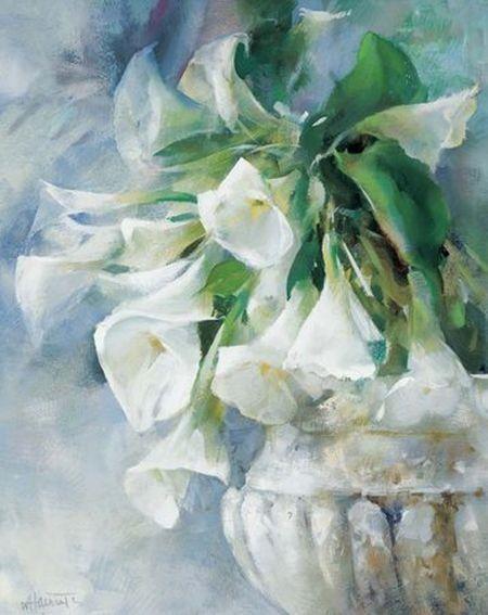 Willem Haenraets | cuadros arte | Pinterest | Acuarela, Cuadro y Flores