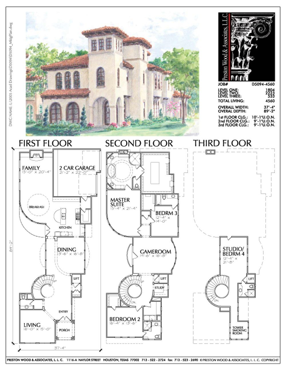 Luxury Home Photos New Custom Homes With Swimming Pool 2 Story Floor Preston Wood Associates Spanish Style Homes Sims House Plans Mansion Floor Plan