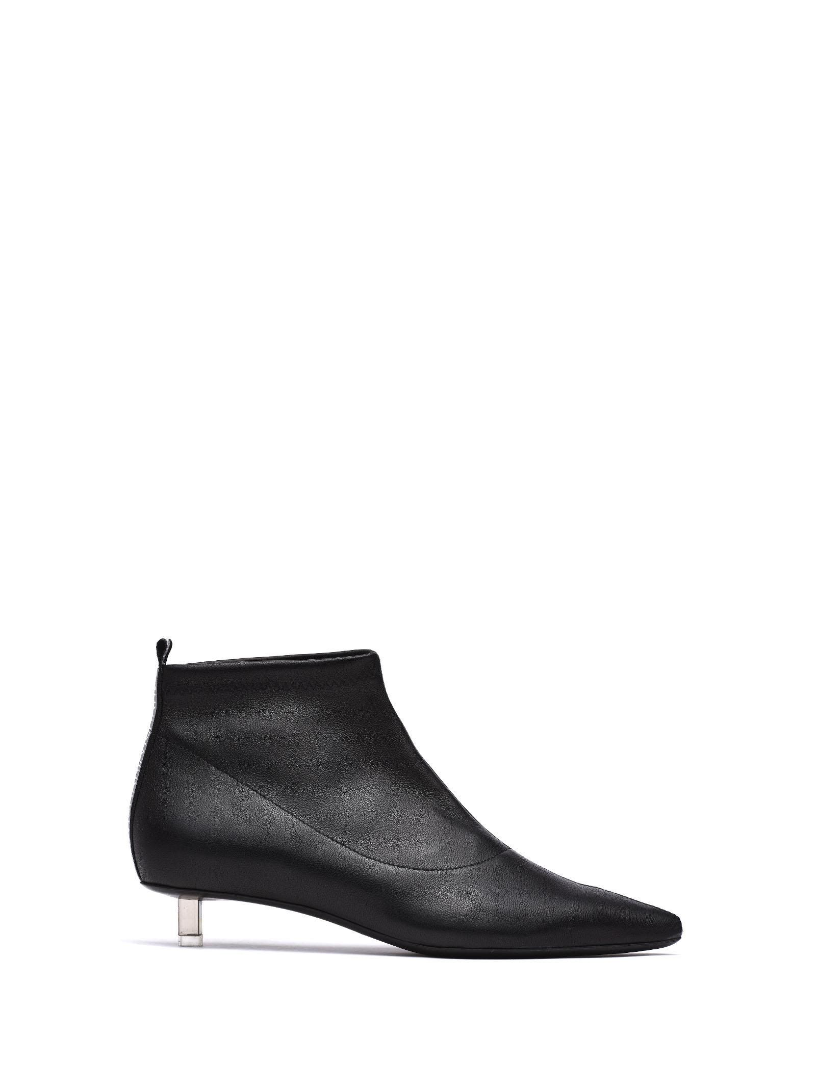 8915684c503 VIC MATIE VIC MATIE BLACK STRETCH LEATHER HALF BOOT.  vicmatie  shoes