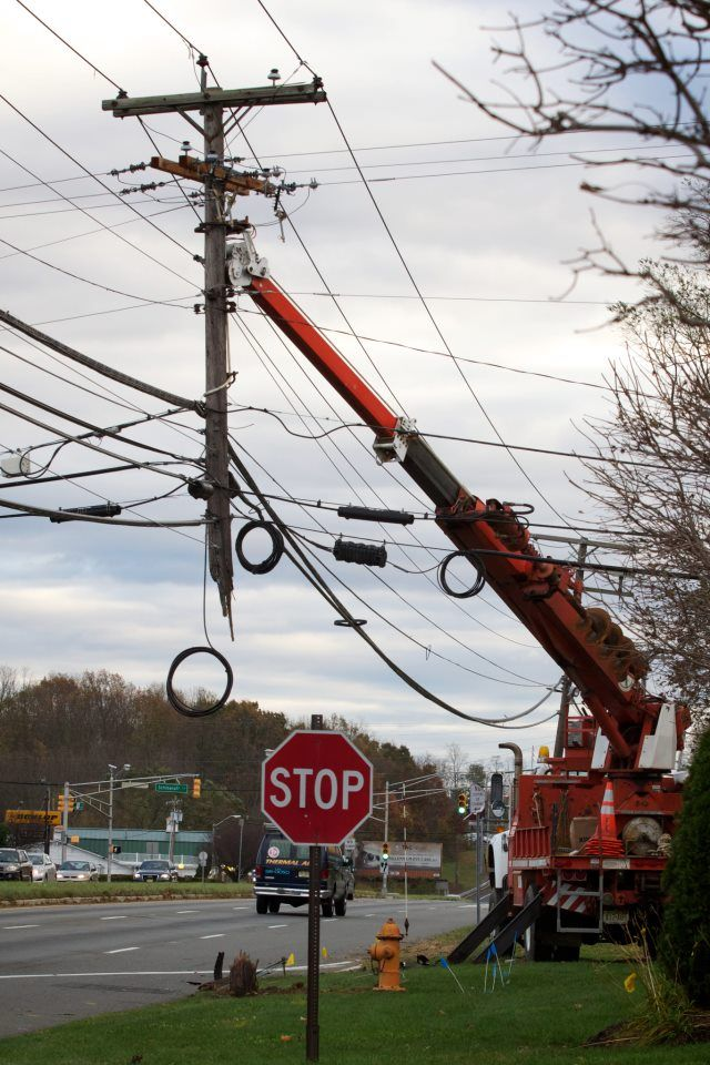 Utility pole in New Jersey Power lineman, Electrical