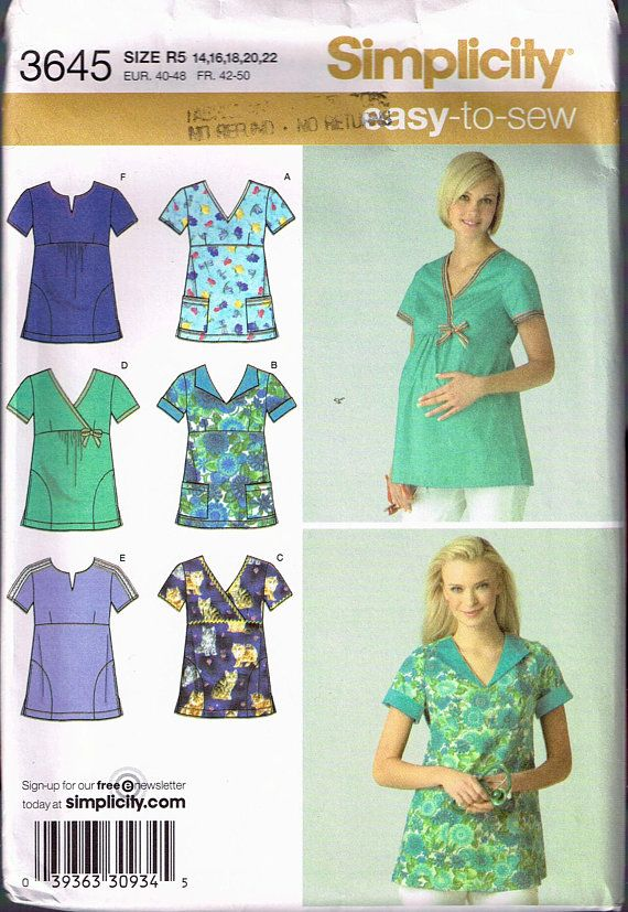 Size 4040 Misses Easy Plus Size Scrubs Top Sewing Pattern V Neck Cool Scrub Top Patterns