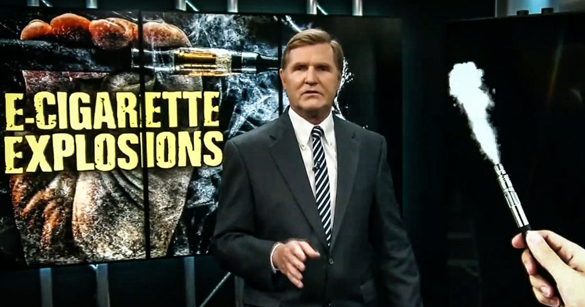 Mike Papantonio, host of the television show America's Lawyer, investigates the cause of E-Cigarette explosions.