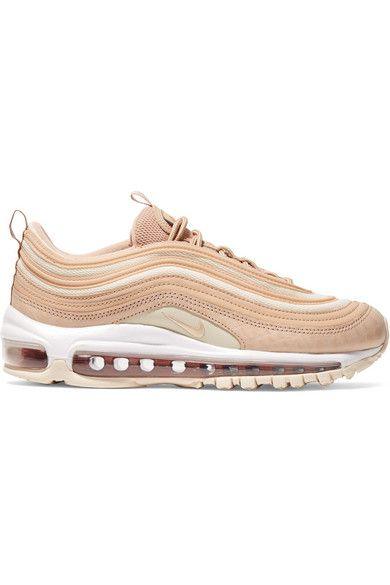 NIKE AIR MAX 97 LX CROC EFFECT LEATHER AND MESH SNEAKERS