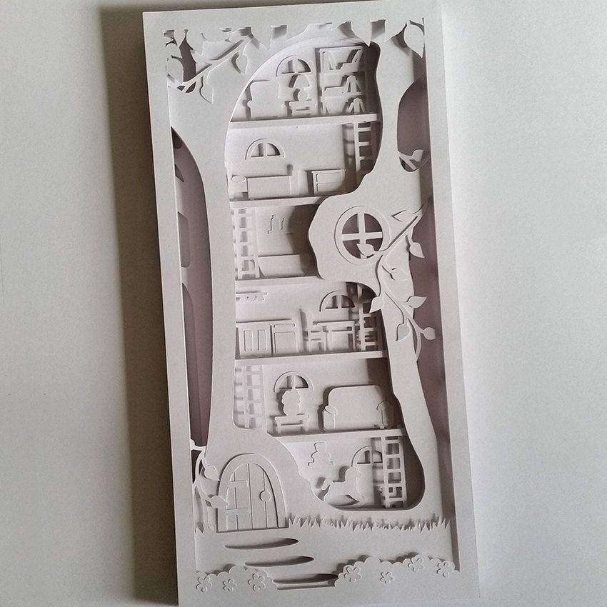 Image result for layered paper cutting | miniature pop up books ...