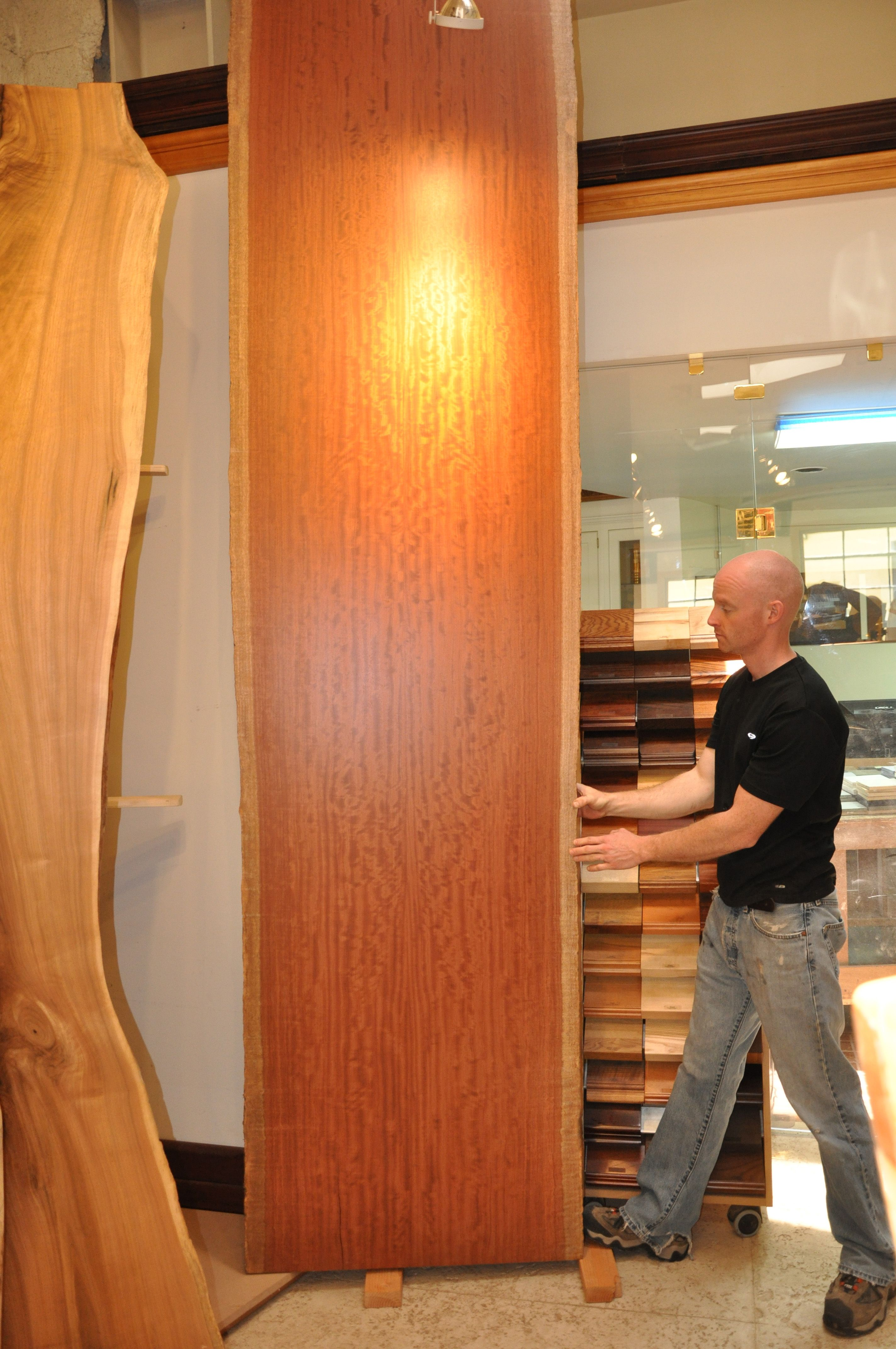 Bubinga Live Edge Wood Countertop Brooks Custom